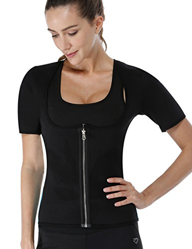 NonEcho Women Sauna Body Shaper Sweat Suit Sleeve Spa Cami Hot Neoprene Slimming Workout Vest Weight Loss Top