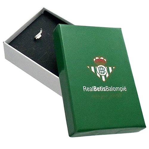Pendentif Real Betis parchemin bouclier d'or droit 26mm 9k. [8710GR] - personnalisable - ENREGISTREMENT inclus dans le prix