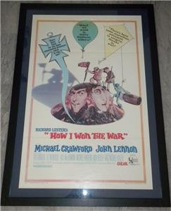 Original HOW I WON THE WAR Movie Poster Framed JOHN LENNON RICHARD LESTER