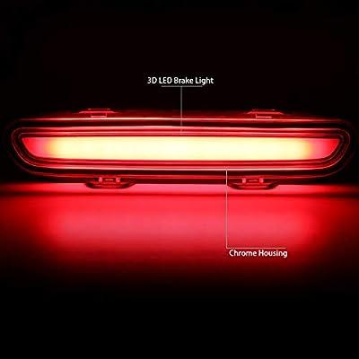 DNA Motoring 3BL-CHA06-3D-LED-CH 3D LED Bar 3rd Tail Brake Light Rear Center Stop Lamp: Automotive