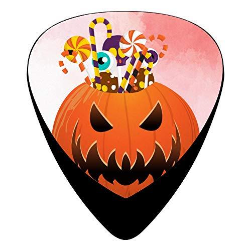 Halloween Pumpkin Party Fender Celluloid Guitar Picks Customized 12 Pack Thin Medium Heavy Gauges For Boyfriend ()