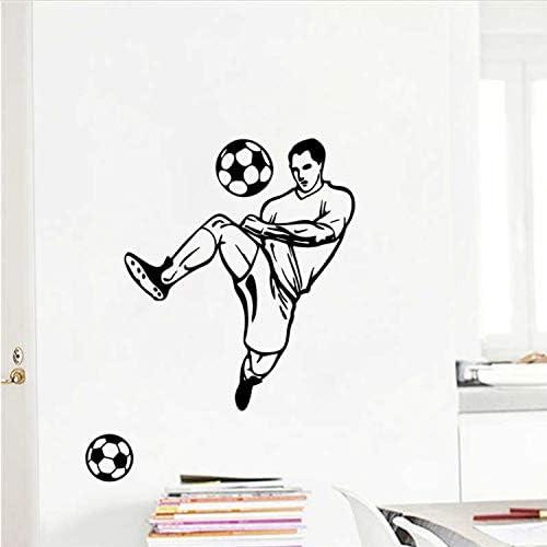 libby-nice Boy Fútbol Pelota De Fútbol Pegatinas De Pared para Niños Habitaciones Niños Dormitorio Tatuajes De Arte De La Pared Decoración para El Hogar Mural: Amazon.es: Hogar