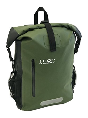 Price comparison product image COR 25L Waterproof Dry Bag Backpack with Padded Laptop Sleeve (Green, 25L)
