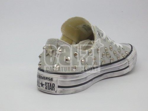 grigio OX basse all Converse chiaro prodotto star Mouse Borchie artigianale wqUtx17Yx
