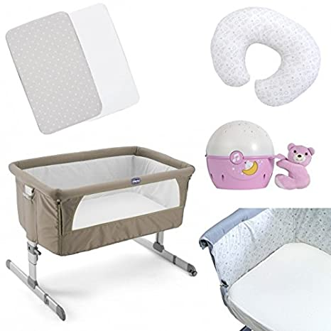 Chicco Next2Me side-sleeping cuna Plus accesorios - gris/rosa ...