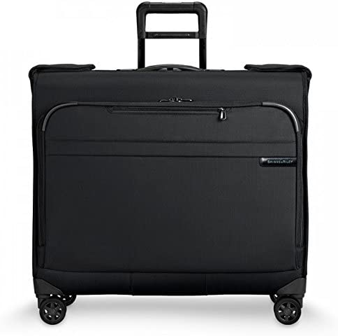 Briggs Riley Baseline-Softside Carry-On Wardrobe Spinner Luggage, Black, One Size