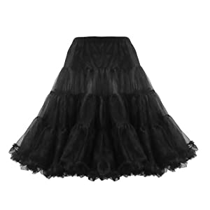 Lindy Bop Classic 26 Organza Net Mesh Tulle Petticoat for Rockabilly Swing Dresses