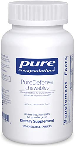 Pure Encapsulations - PureDefense Chewables - Hypoallergenic Dietary Supplement for Daily Immune Support* - 120 Chewable Tablets
