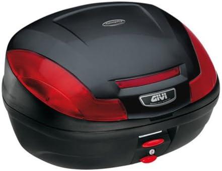 Noir Givi E470N Top Case Monolock avec Haut Couvercle du Boitier en Plaque