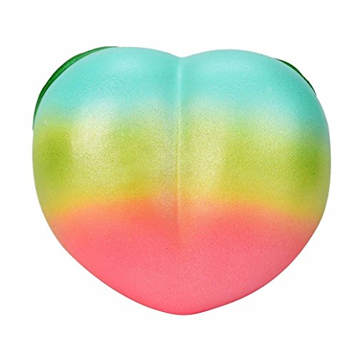 Price comparison product image Balakie Squishy Star Peaches Squeeze Pressure Toys,  11CM Galaxy Honey Peach Cream Scented Slow Rising Squeeze Strap Kids Toy (One Size,  multicolor)