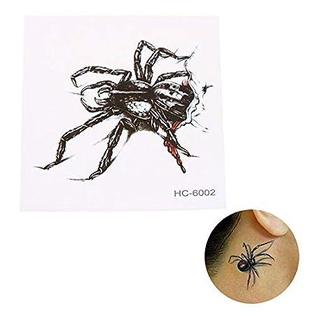 HDNSA Las cicatrices de la cubierta de 105x60 mm, tatuaje de araña ...