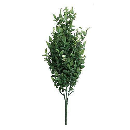 人工観葉植物 ルスカスブッシュ(12個セット) ba680 (代引き不可) インテリアグリーン 造花 BUSH B07T22TV6D