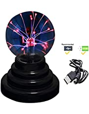 RioRand Plasma Ball USB Lamp Light Or Battery Powered, 4''X4''X6''