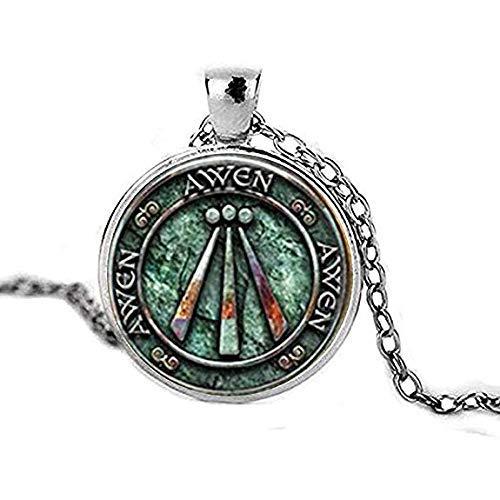 (Druid Protection Amulet Photo Pendant Charm Gift Viking Jewelry Viking Necklace Celtic Art Jewelry Celtic Jewelry Awen Symbol Druid Amulet)