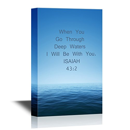 Christian Quotes Series When You Go Through Deep Waters I Will Be with You Isaiah 43:2 Gallery