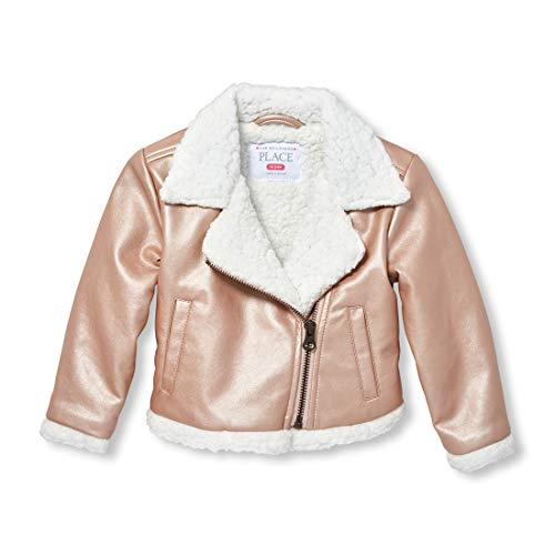 - The Children's Place Baby Girls Sherpa Jacket, Rose Gold, 4T
