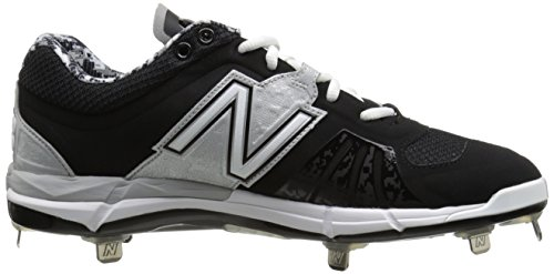 New Balance Herren L3000V2 Metall Low Baseball Stollen Schwarzes Silber