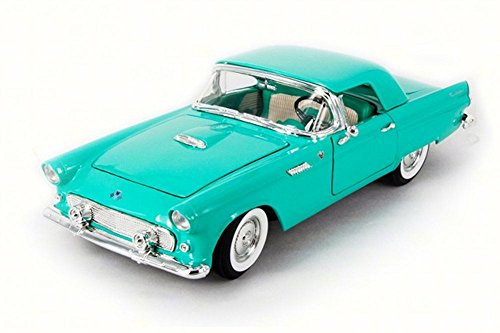 1955 Ford Thunderbird Convertible, Green - Lucky 92068 - 1/18 Scale Diecast Model Toy Car T-bird Convertible