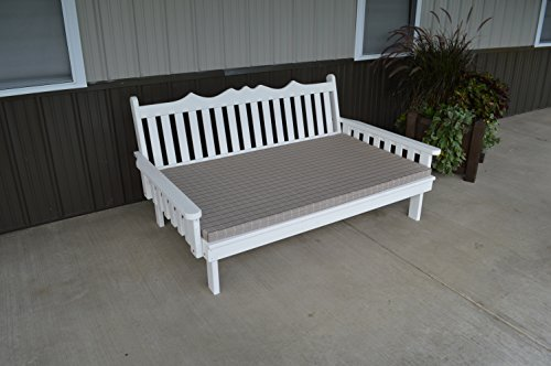 4 Foot Pine Indoor or Outdoor Royal English Daybed- White Paint