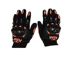 R.J.VON – KTM Gloves KTM Bike Riding Gloves Orange and Black – XL Size
