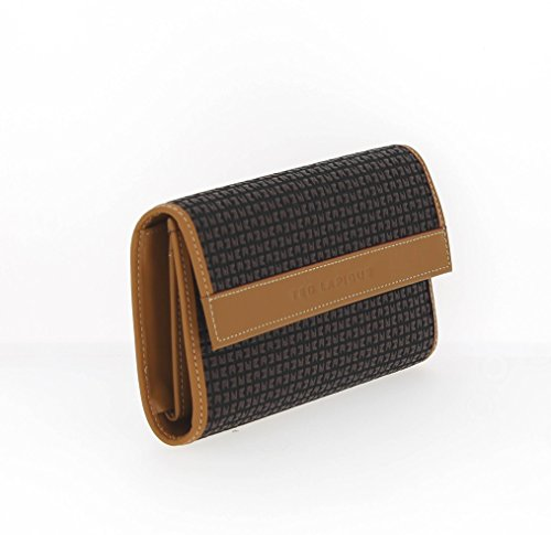 Ted Lapidus - Bolso estilo cartera para mujer marrón marrón
