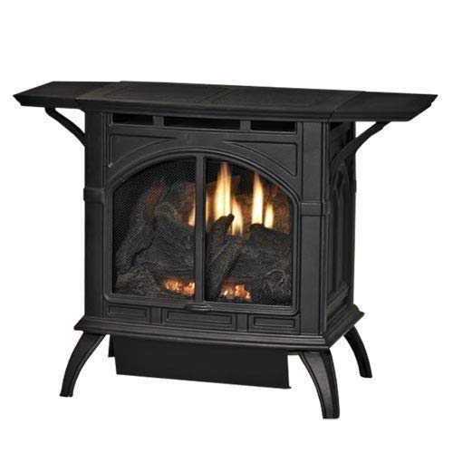 Heritage Cast Iron Matte Black Stove VFD20CC30FN - Natural Gas