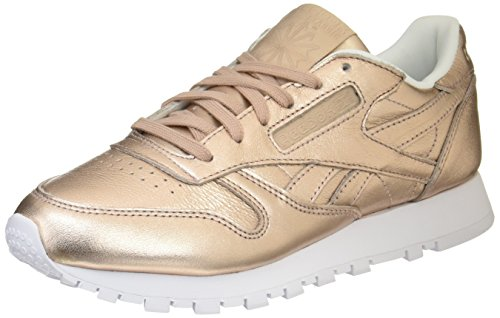 L Classic Pearl Low Orange peach Metallic Top Damen Reebok Leather White Sneakers xFqEOw44C