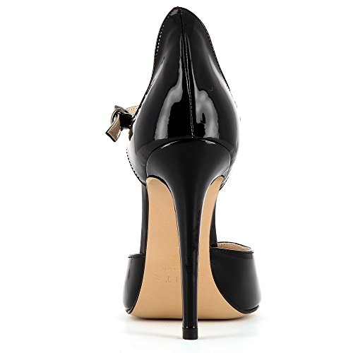 Evita Shoes Lisa Damen Pumps Lack Schwarz