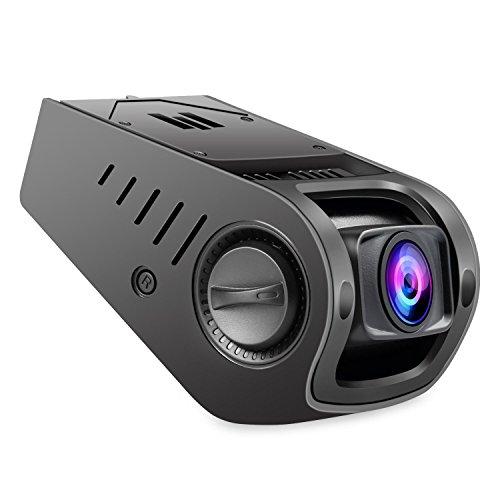nexgadget Auto Dash Kamera & #-, FHD 1080P Auto Kamera, Recorder, mit G-Sensor, Loop Aufnahme, Parking Modus, Bewegungserkennung, KFZ-Ladegerät mit einem USB-Port D502 Black
