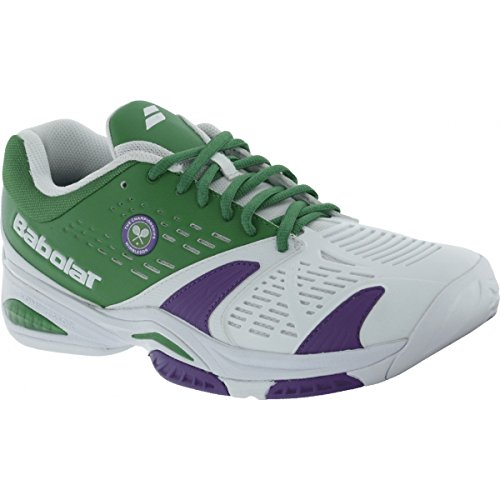Babolat Men`s SFX All Court Wimbledon Tennis Shoes White and Green-(332492129769