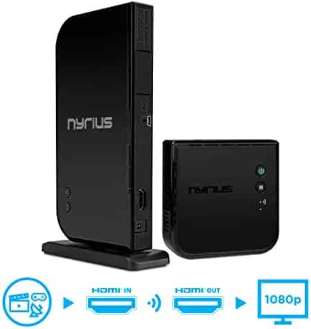Nyrius ARIES Home HDMI Digital Wireless Transmitter & Receiver for HD 1080p Video Streaming, Cable box, Satellite, Bluray, DVD, PS3, PS4, Xbox 360, Xbox One, Laptops, PC (NAVS500)