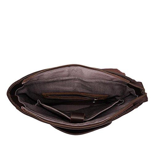 Capacidad Cuero al Doble Aire de la de Perfecto Moda Libre de los Bolsos de Black Gran Regalo black Mochila Bolso Hombres BAO PYqTnP