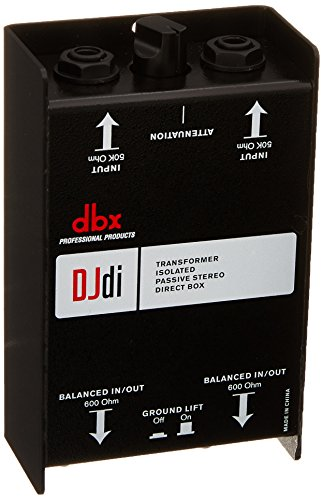 - dbx DJdi Passive 2-Channel Direct Box with Line Mixer