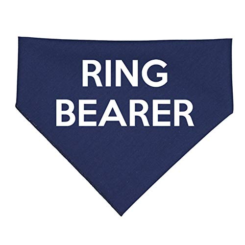 (Mashed Clothing - Ring Bearer - Bandana for Dogs Assorted Colors (Navy))