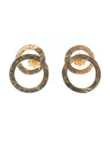 NerdiBoucles d'oreilles Or martelé