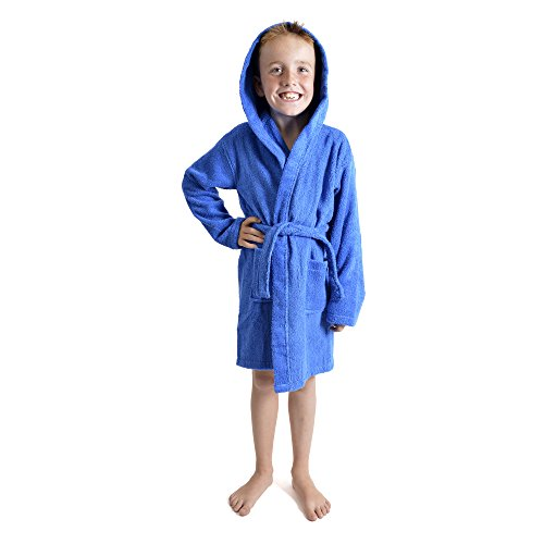 Children Dressing Gown Kids Boys Girls Hooded Towelling Bathrobe 100% Cotton  Terry Towel Soft Towlling 7-13 Years - Buy Online in Oman. 7c9471bc9