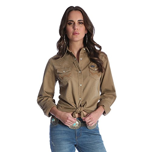 Wrangler Women's Long Sleeve Western Snap Work Shirt, for sale  Delivered anywhere in USA