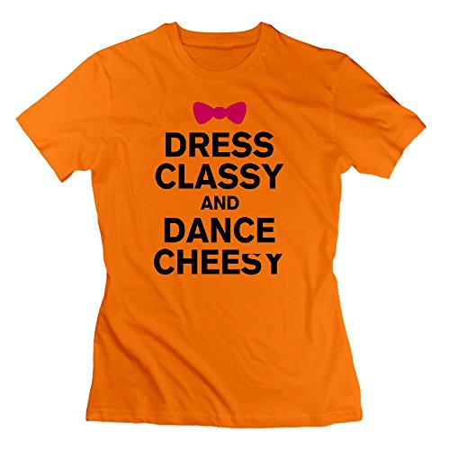 Formaggio T Ballare E Classe Divertente Vestito Arancione shirt Di wUCvqxxtIF