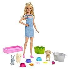 Barbie - Juega y Lava a sus Mascotas, Muñeca con Accesorios (Mattel FXH11) , color/modelo surtido