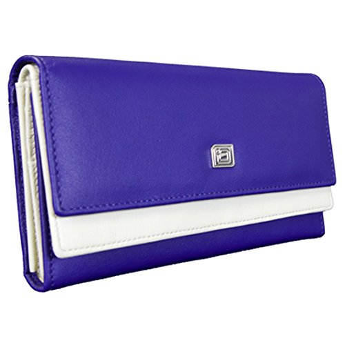 ID Stronghold High Capacity Leather Womens Wallet - Gorgeous Soft Leather ()