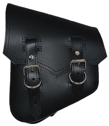La Rosa Harley-Davidson Softail & Rigid Vintage Style Black Leather Left Swing Arm - Saddle Heritage Liner Bag