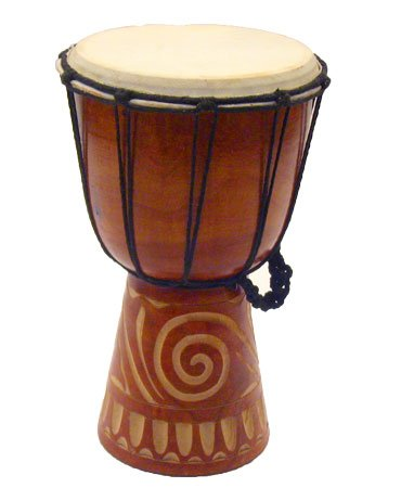 Rustic Djembe Tribal Drum - 12'' by Stoneage Arts