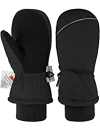 Andake Kids Ski Mittens Winter children Gloves Waterproof Windproof Warm Snow Mittens for Girls Boys Children Gift