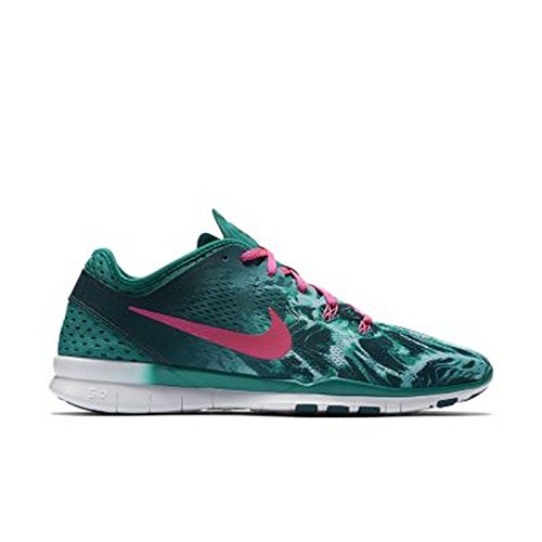 Women's Nike Free 5.0 Tr Fit 5 PRT Radiant Emerald Pink Size 11 704695-300