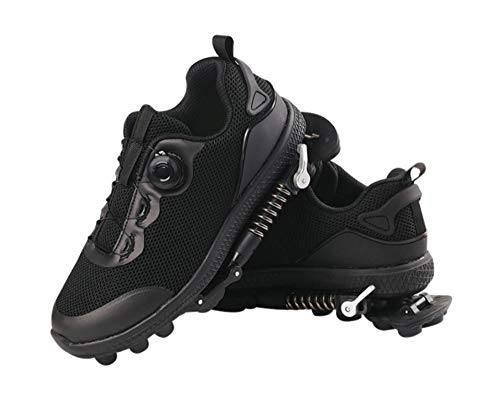 Promise Technology Spring Cushion Running Shoes Casual Athletic Sneakers Pain Relief Footwear (41, Black)