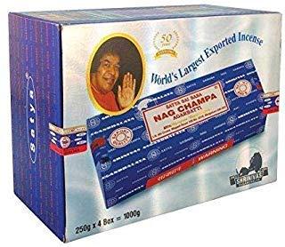 Sai Baba Nag Champa Incense 1,000 Gram (1,000g - 4 packs) by Sai Baba Nag Champa (Image #1)