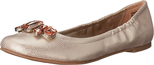 CL by Chinese Laundry Women's Golden Girl Shimm Ballet Flat, Gold, Size 6.5