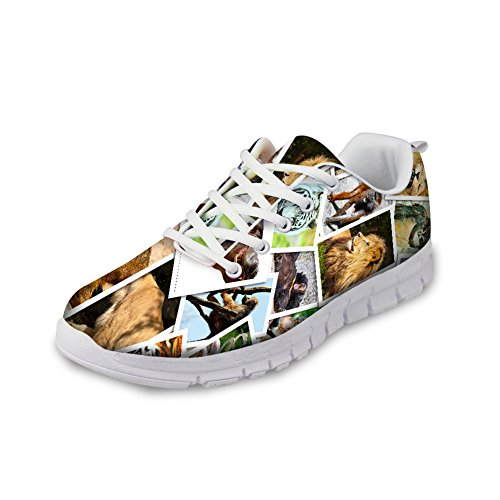 HUGS IDEA Animals3 Bresthable Running Cute Pet Sneakers Women's Shoes Dog FSHxFqrdw