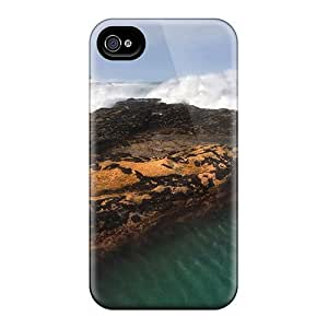 Tough Iphone KoIGLRD7005TbhWd Case Cover/ Case For Iphone 4/4s(lighthouse On A Rock Isl)