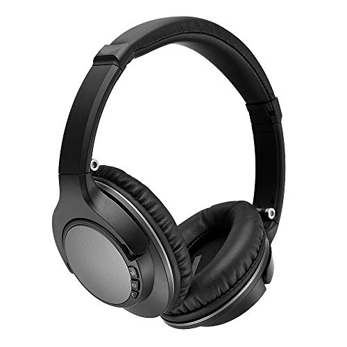 Active Noise Cancelling Headphones Bluetooth Headphones with Built-in Mic Wireless Headphones Over...